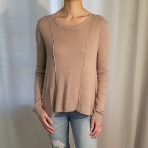 FREE PEOPLE Piped Back Crochet Shirt